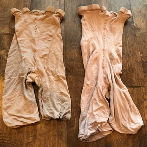 2 pairs of spanx EUC & GUC size D